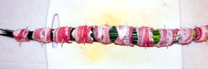 ねぎの豚バラ巻きシャブの巻き方